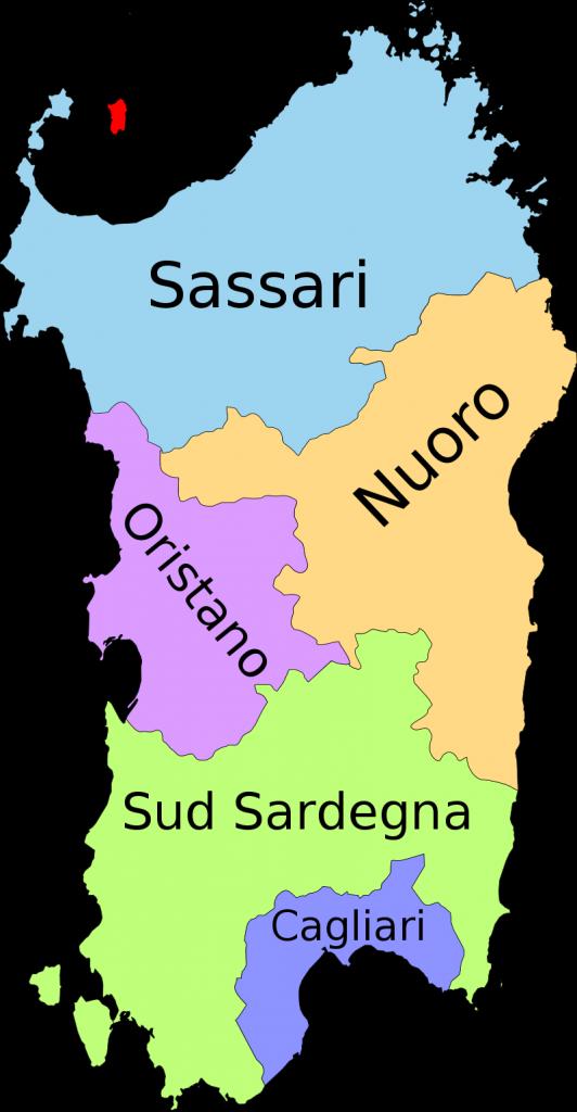 Le province della Sardegna dal febbraio 2016