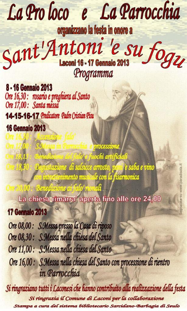 Sant'Antoni 'e su fogu a Laconi