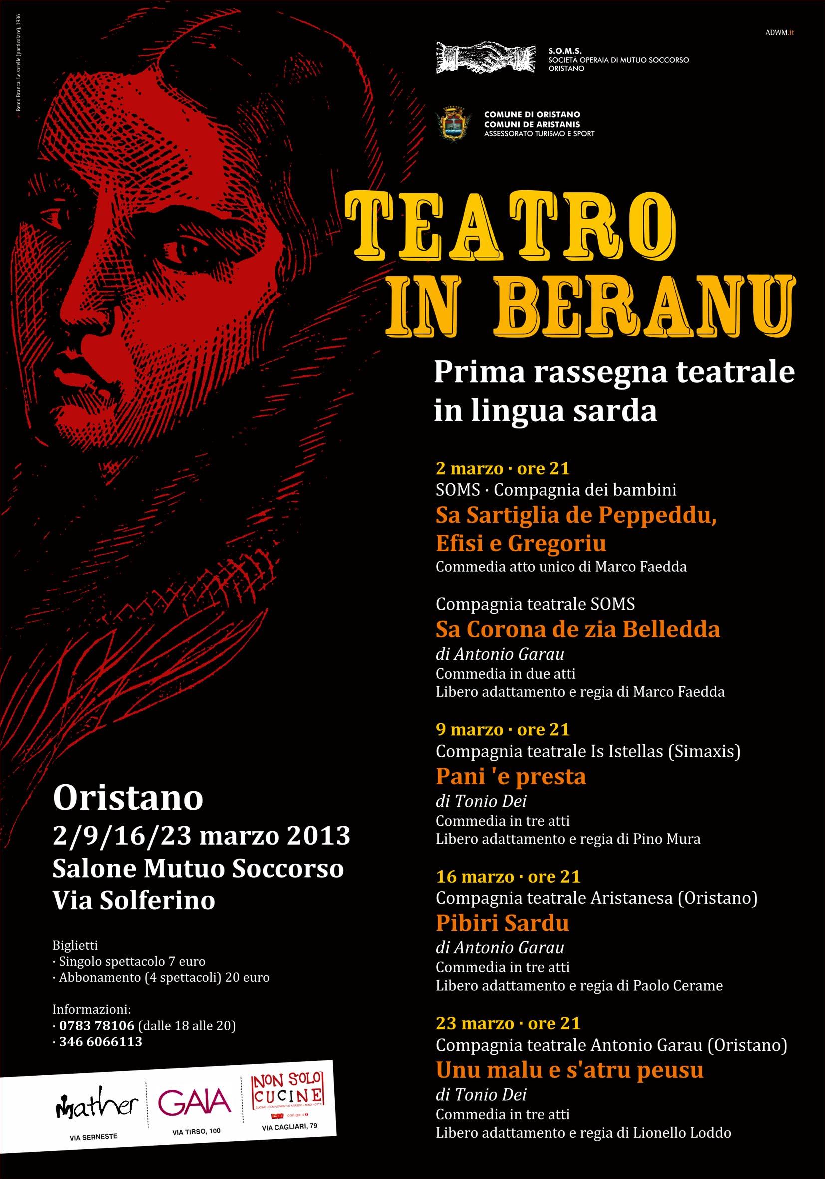 Rassegna teatrale in lingua sarda - Ad Oristano