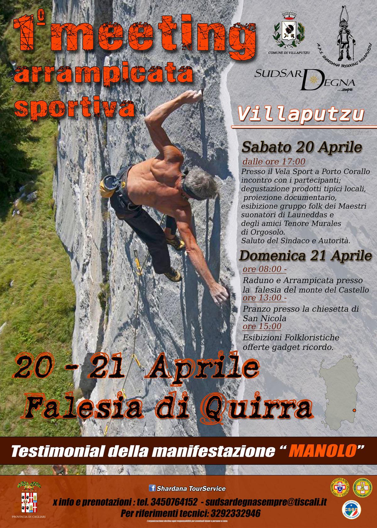 Arrampicata Sportiva a Quirra nel Comune di Villaputzu