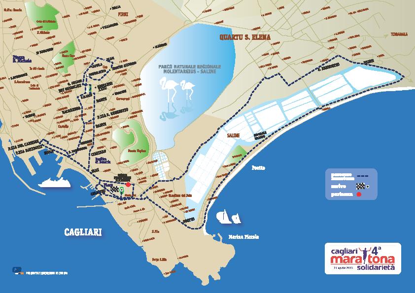 Percorso Maratona di Cagliari 2013
