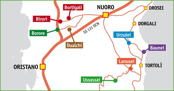 La Mappa di Primavera nel Marghine e in Ogliastra 2013