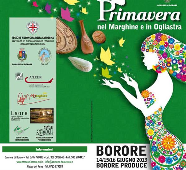 Primavera nel Marghine e in Ogliastra 2013 a Borore – 15 e 16 Giugno