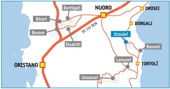 Come arrivare a Urzulei