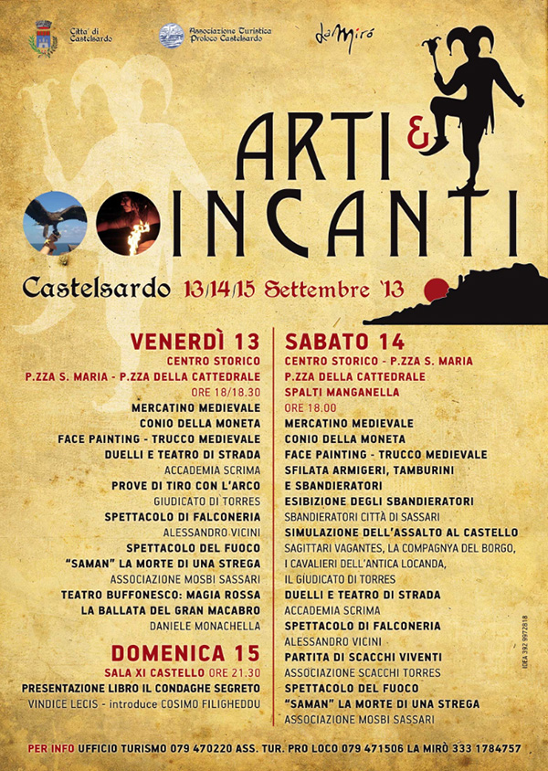 """""""Arti e incanti"""" a Castelsardo - Dal 13 al 15 Settembre 2013"""