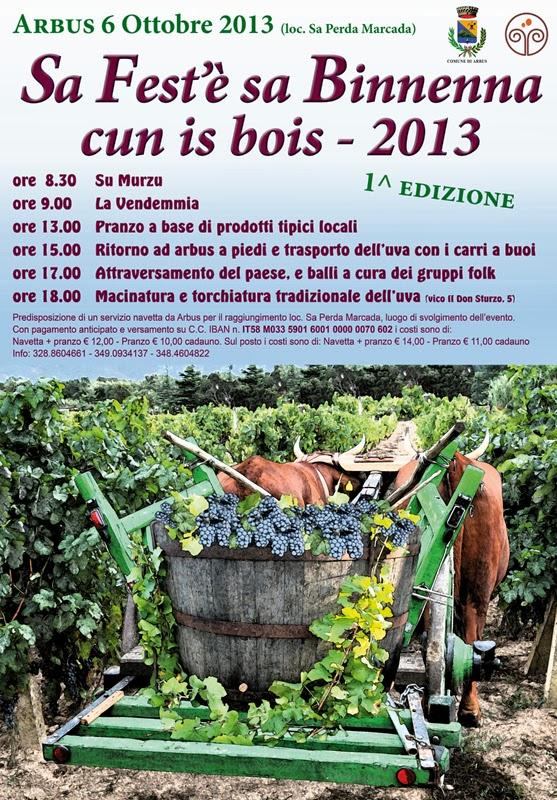 """""""Sa Fest'è sa Binnenna cun is bois"""" ad Arbus"""