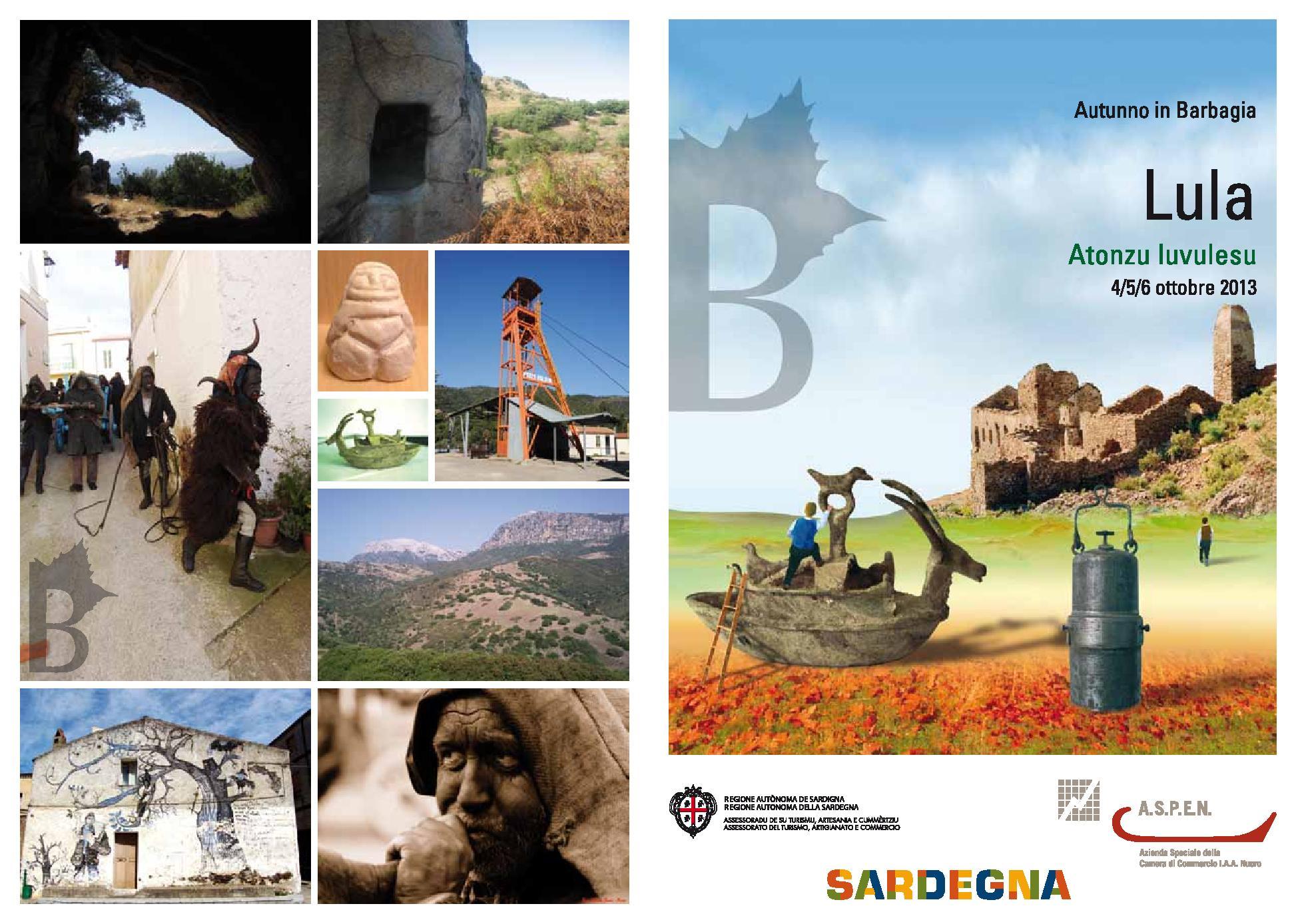 Autunno in Barbagia 2013 a Lula - Dal 4 al 6 Ottobre