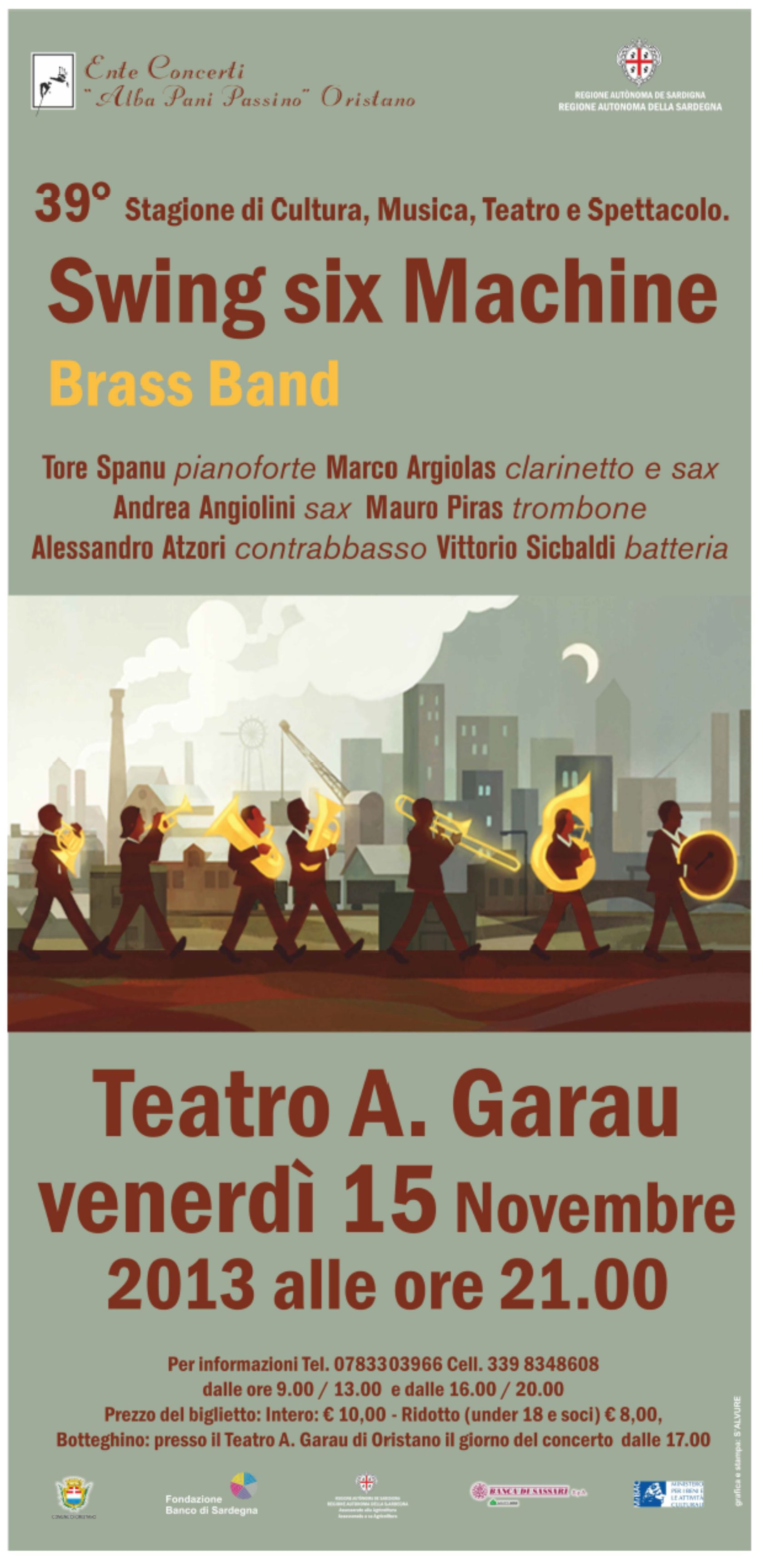 Swing six Machine Brass band ad Oristano