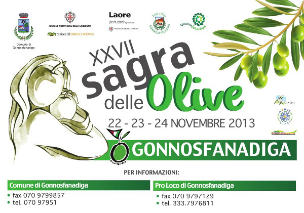 XXVII Sagra delle olive di Gonnosfanadiga