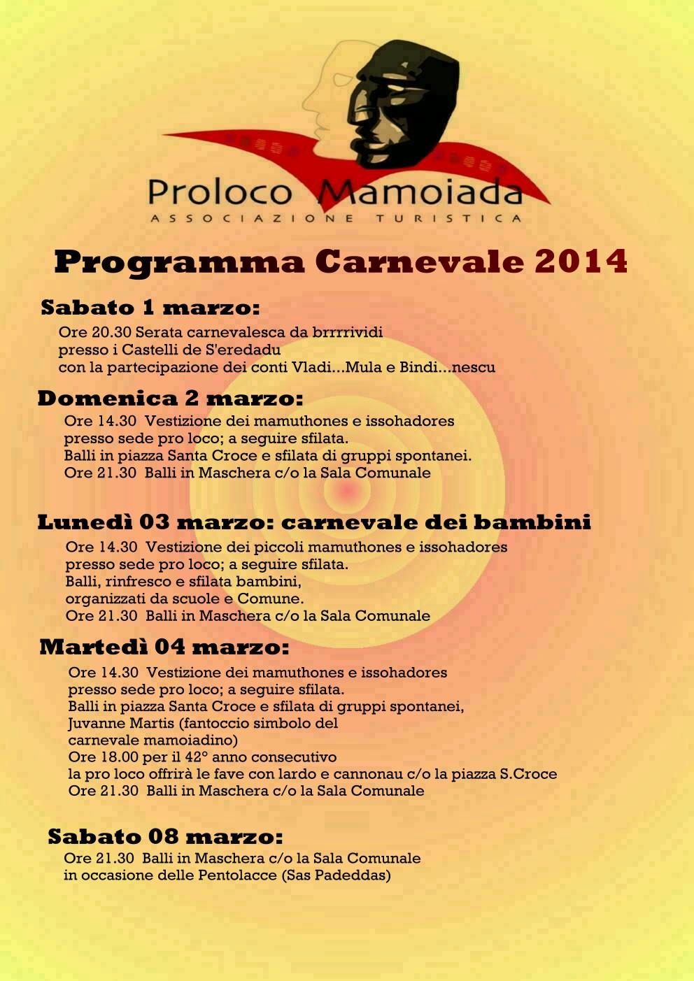 Carnevale 2014 a Mamoiada