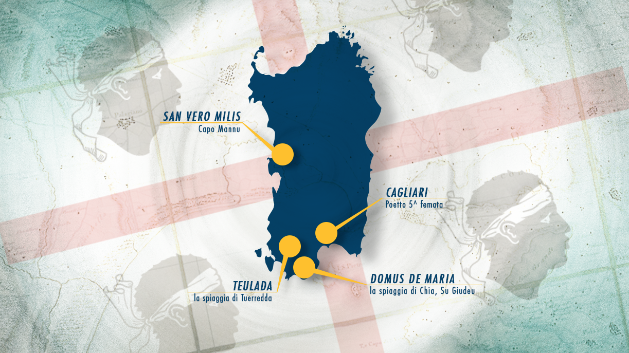 Le Location del Red Bull Unfastened 2014 – Kitesurf Contest in Sadegna