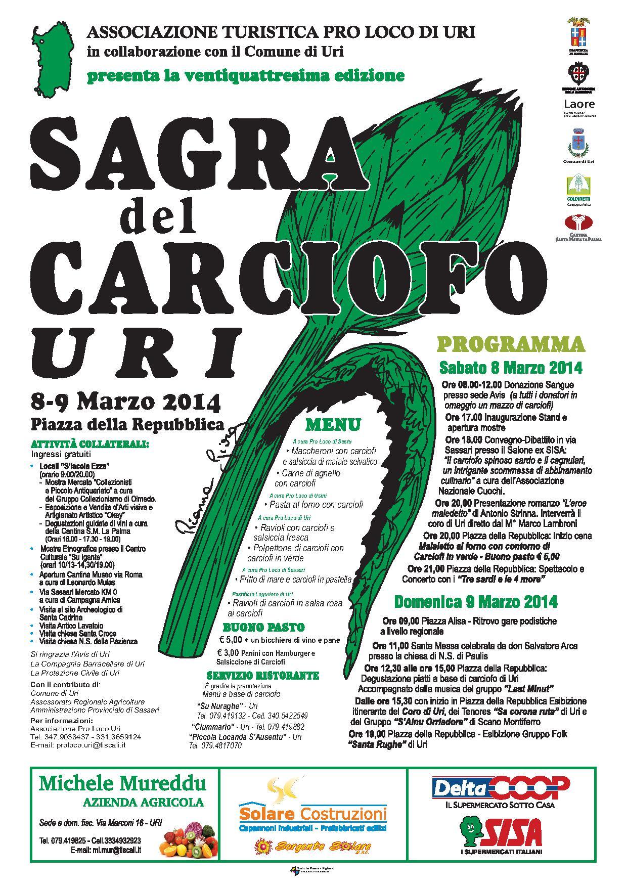 XXIV Sagra del Carciofo - 8 e 9 Marzo 2014