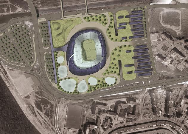 La nuova area con il progetto del nuovo Sat'Elia