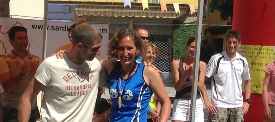 I vincitori del Sardinia Trail: Didier Dhondt e Silvia Givogre