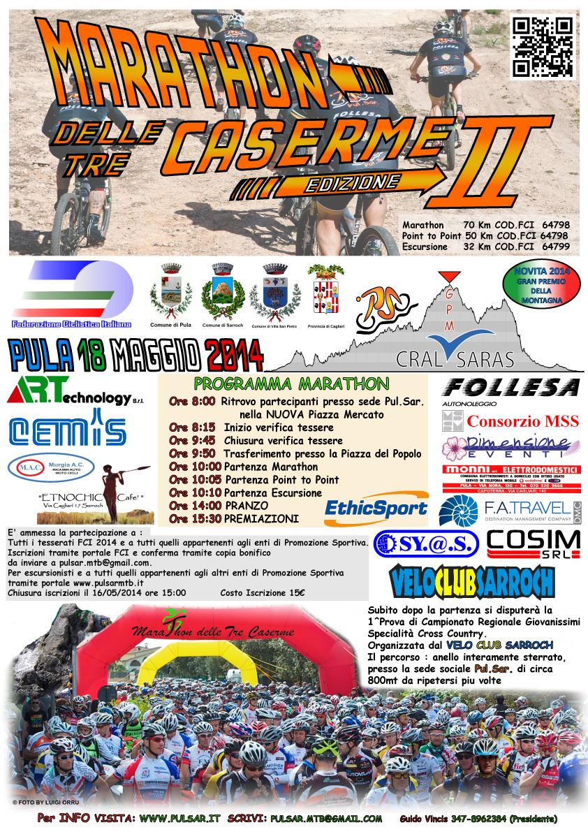 Marathon delle Tre Caserme 2014 a Pula - Domenica 18 Maggio