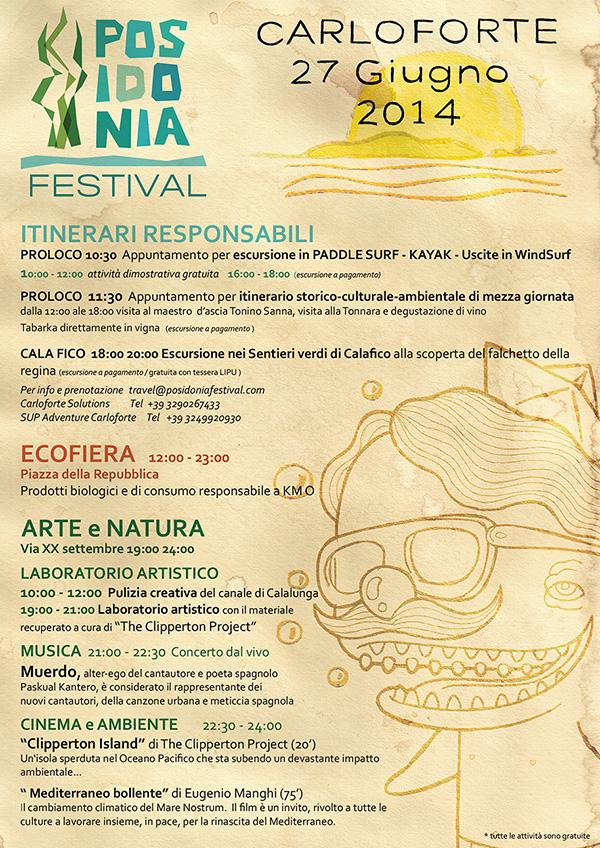 Programma Posidonia Festival 2014 a Carloforte - Venerdì 27 Giugno