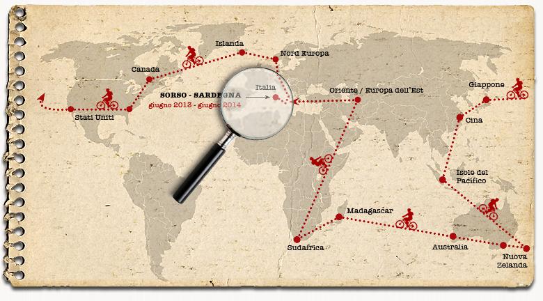 Itinerario di Rumundu in giro per il Mondo