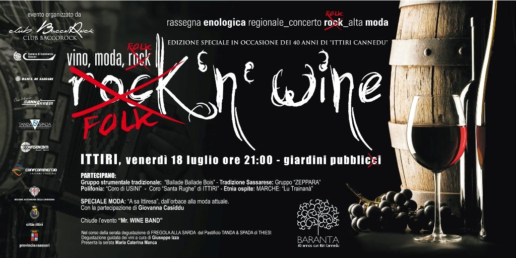 """""""Rock 'n wine"""" a Ittiri - Vino, moda e musica - Venerdì 18 Luglio 2014"""