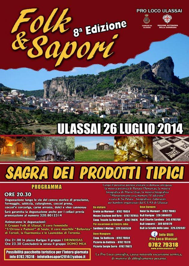 Folk e Sapori a Ulassai - Sabato 26 Luglio 2014