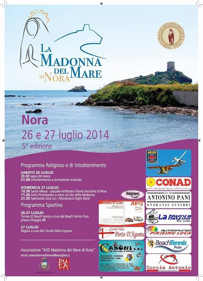La Madonna del Mare 2014 a Nora - 26 e 27 Luglio