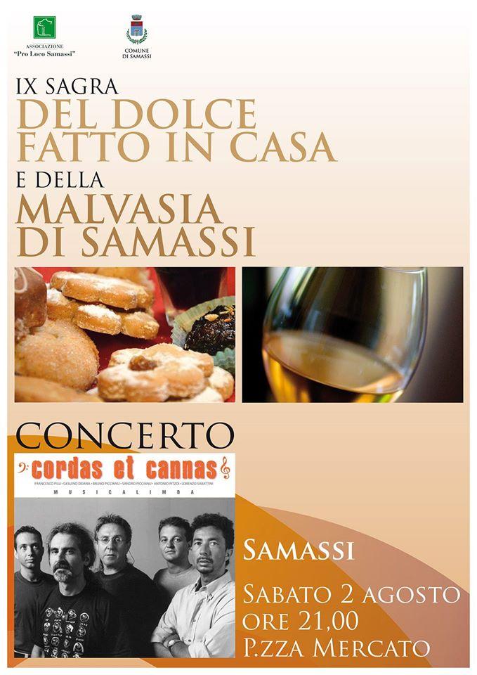 IX Sagra del dolce fatto in casa e della Malvasia di Samassi - Sabato 2 Agosto 2014