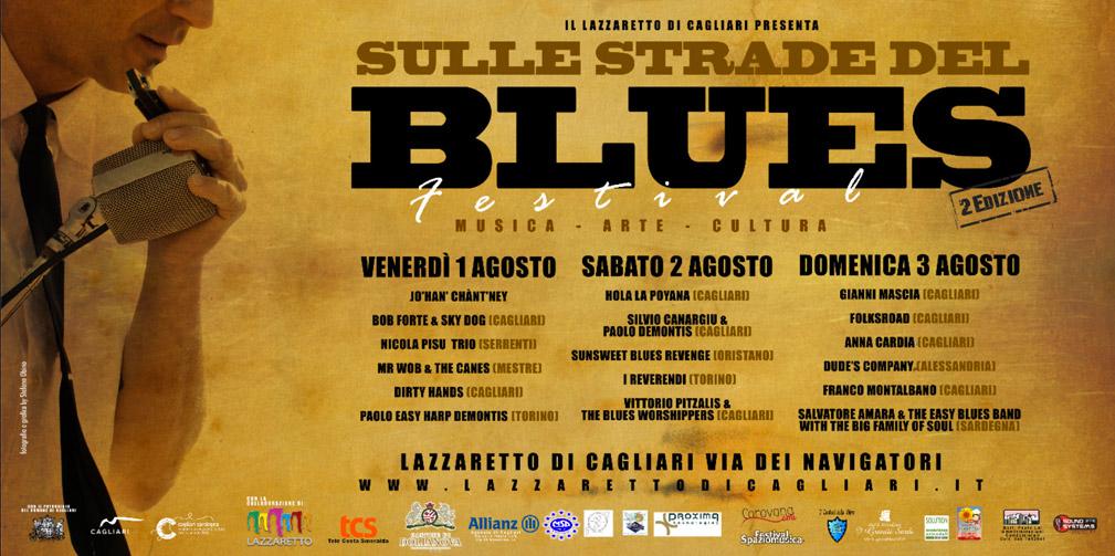 Sulle strade del Blues Festival - A Cagliari dall'1 al 3 Agosto 2014