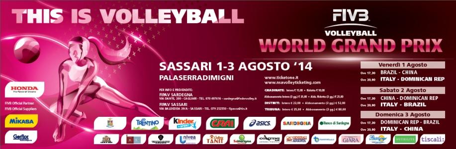 Volley World Grand Prix 2014 a Sassari - Dall'1 al 3 Agosto