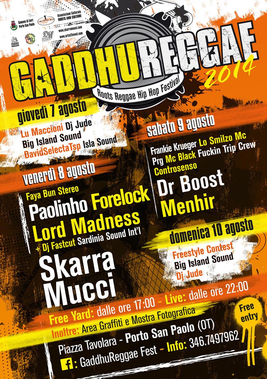 Gaddhureggae Fest - A Porto San Paolo dal 7 al 10 Agosto 2014