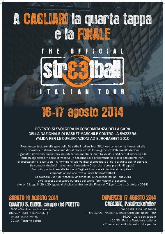 Streetball Italian Tour 2014 - A Quartu Sant'Elena e Cagliari il 16 e 17 Agosto