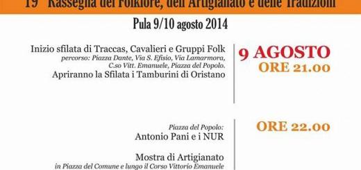 19^a Rassegna Artifolk a Pula - Sabato 9 e Domenica 10 Agosto 2014