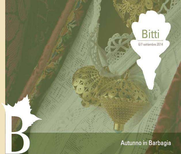 Autunno in Barbagia 2014 a Bitti
