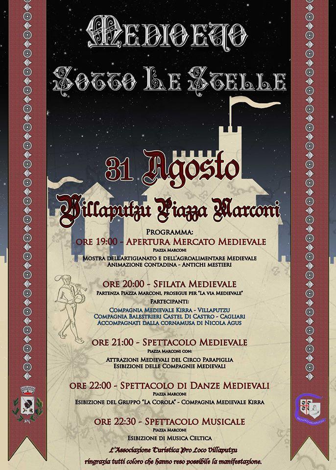 Medioevo sotto le stelle - A Villaputzu il 31 Agosto 2014