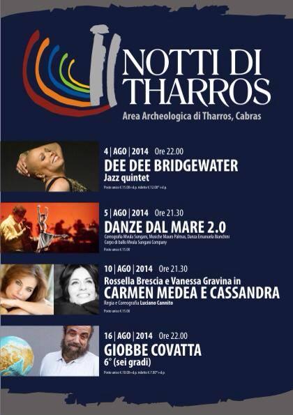Notti di Tharros 2014 - Si inizia Lunedì 4 Agosto