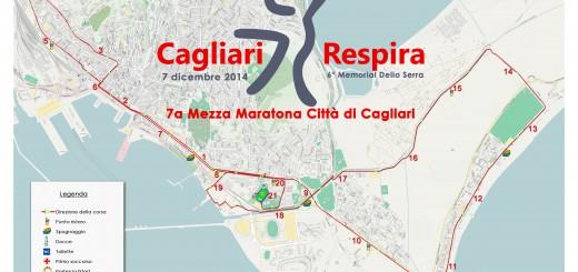 Il tracciato della Mezza Maratona Città di Cagliari 2014