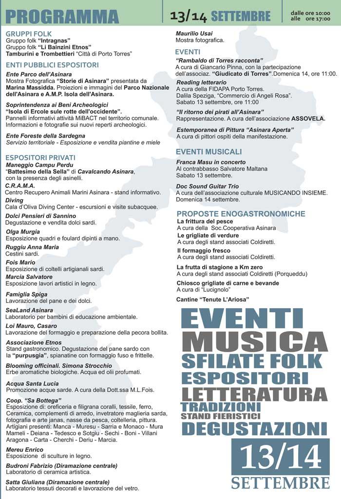 Programma Asinara Aperta 2014