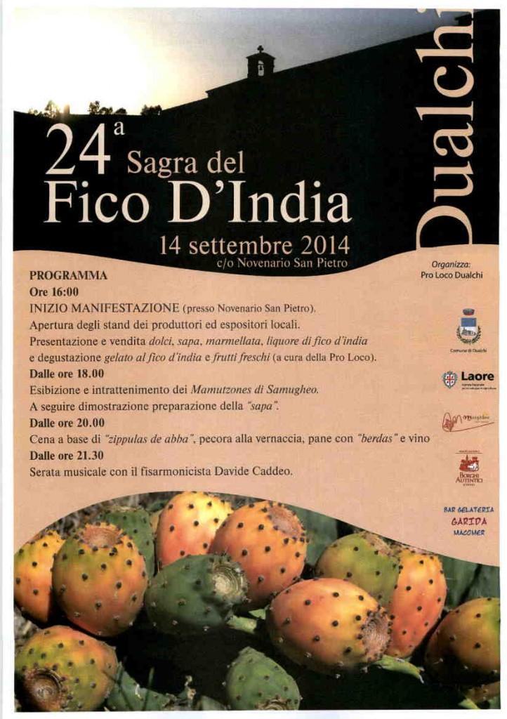 24^a Sagra del Fico d'India - A Dualchi il 14 Settembre