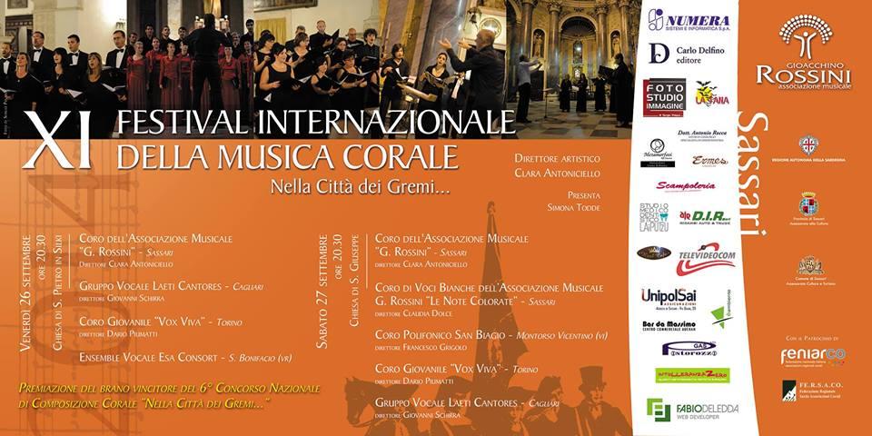 Festival Internazionale della Musica Corale - A Sassari il 26 e 27 Settembre 2014