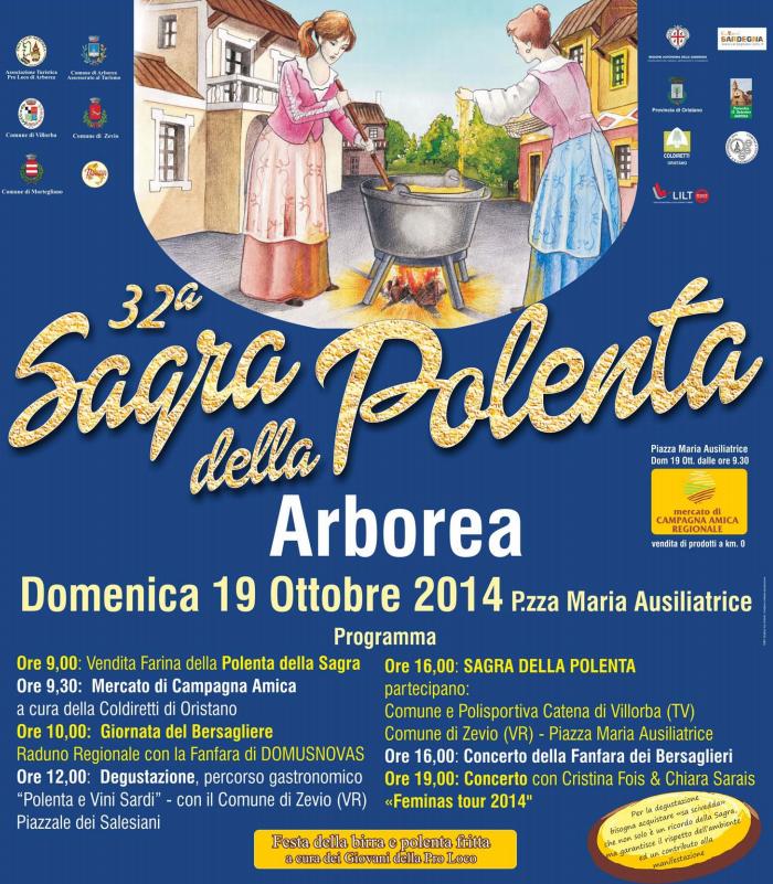 Sagra della polenta di Arborea 2014 manifesto