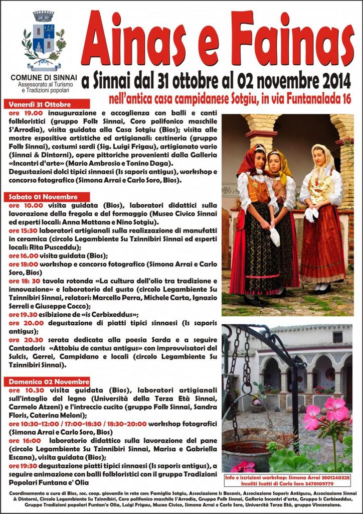 Ainas e Fainas 2014 a Sinnai - Dal 31 Ottobre al 2 Novembre