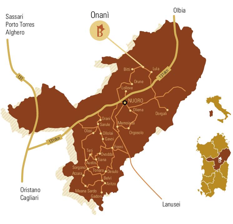Autunno in Barbagia 2014 ad Onanì - Dal 10 al 12 Ottobre - Mappa