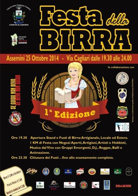 Festa della Birra ad Assemini - Sabato 25 Ottobre