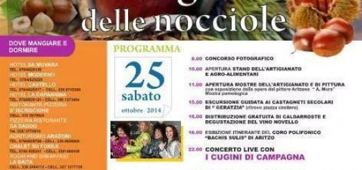 44^a edizione Sagra delle Castagne e delle Nocciole 2014 ad Aritzo - 25 e 26 Ottobre