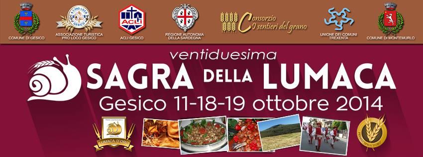 22^a Sagra della Lumaca 2014 a Gesico: 18 e 19 Ottobre