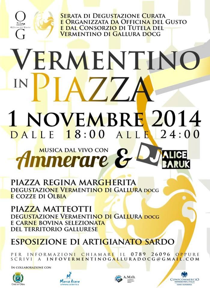 Vermentino in piazza a Olbia – Sabato 1 Novembre 2014