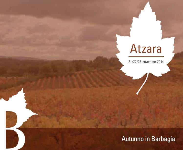 Autunno in Barbagia 2014 ad Atzara – Dal 21 al 23 Novembre