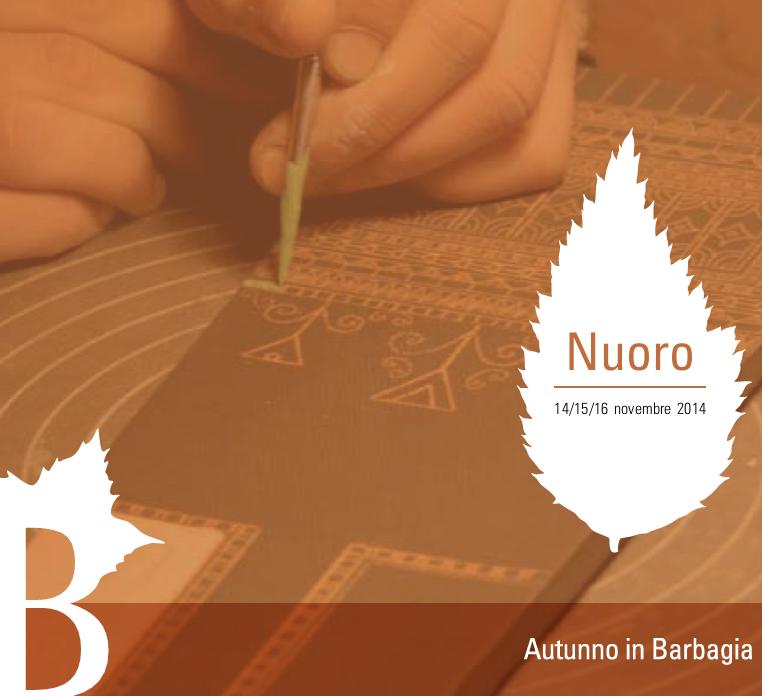 Autunno in Barbagia 2014 a Nuoro – Dal 14 al 16 Novembre