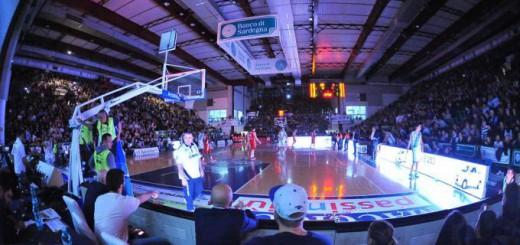 Il PalaSerradimigni di Sassari durante una partita della Dinamo
