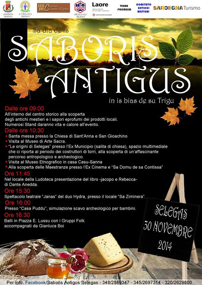 Saboris Antigus 2014 a Selegas - Domenica 30 Novembre