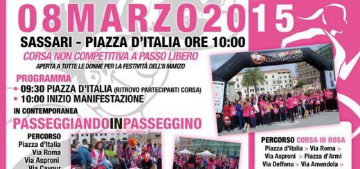Corsa in Rosa 2015 a Sassari - Domenica 8 Marzo