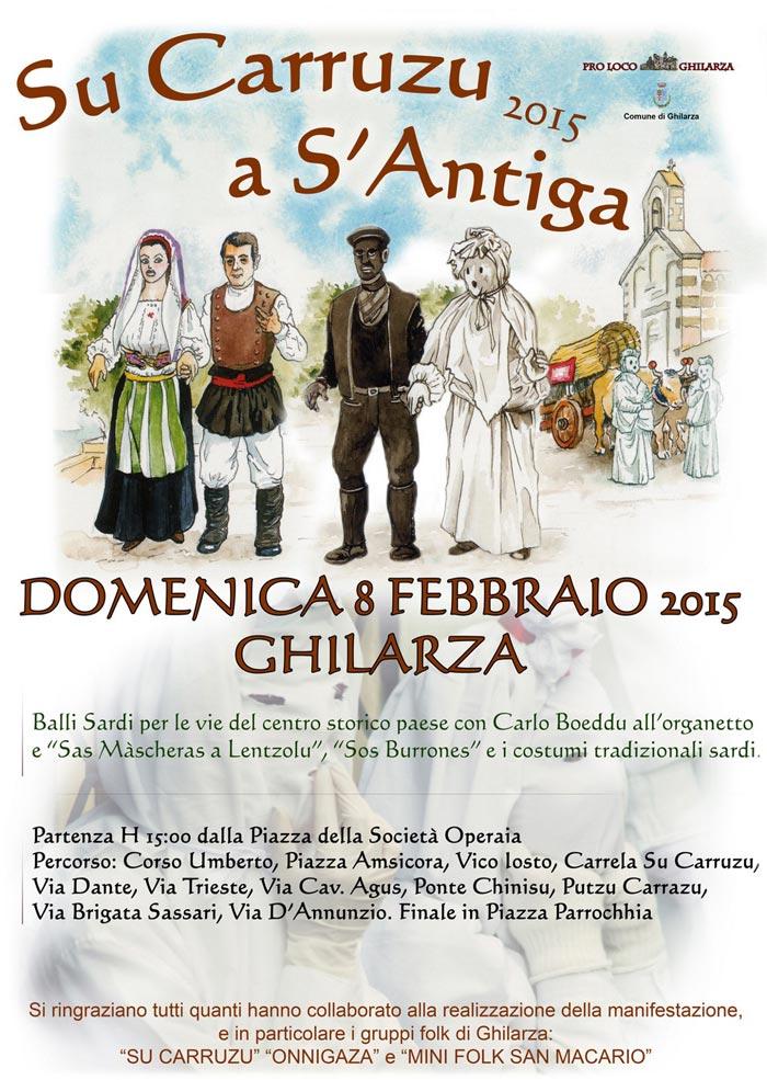 Su Carruzzu a S'Antiga - Carnevale Antico a Ghilarza - Domenica 8 Febbraio 2015